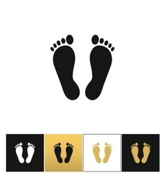 Footprints or human foot prints icon vector image