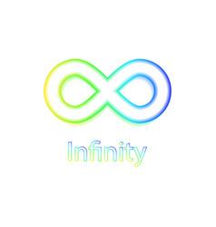 Infinity rainbow symbol logo vector