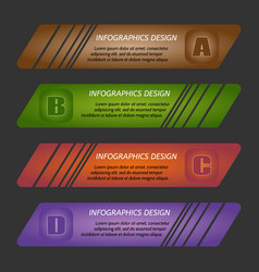 infographic template with step vector image