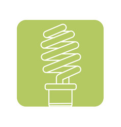 Label save energy light bulb vector