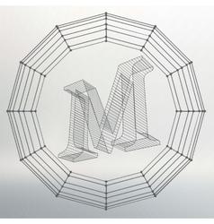 letter M Fonts of Mesh vector image