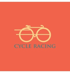 Minimalistic bicycle icon vector image