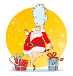 mischievous Maiden with Christmas costumes vector image