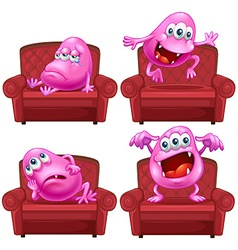 Monster and chair vector image