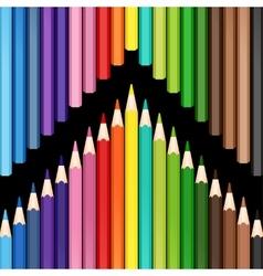 pencil colorful vector image
