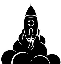 Space rocket shuttle logo logotype vector