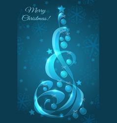 Stylized glass Christmas tree vector image vector image