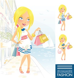 Summer Fashion Girl vector image vector image