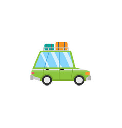 Travel car flat icon travel tourism vector