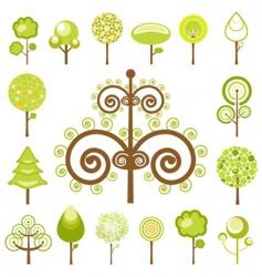 tree graphics vector image vector image
