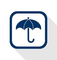 umberlla flat icon vector image vector image