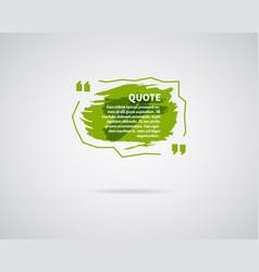 Watercolor ink splash quote blank template vector