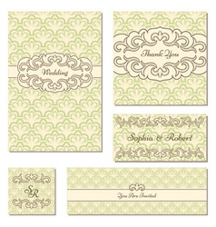 Set of elegant frames vector image