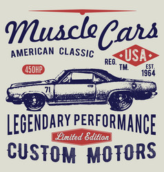 T-shirt typography design retro car printing vector