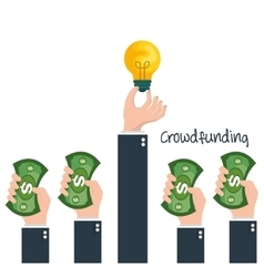 Crowd funding concept icons vector