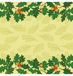 Background oak branch and leaves vector image