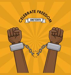 Celebrate freedom race anti racism spirit image vector
