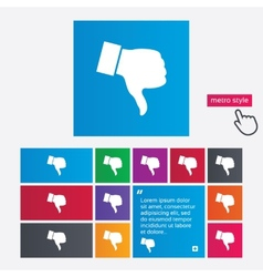 Dislike sign icon hand finger down symbol vector