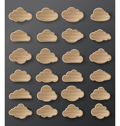Clouds cardboard vector