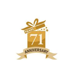 Anniversary birthday 71 vector