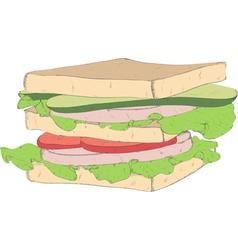 appetizing sandwich vector image