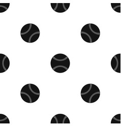 Baseball pattern seamless black vector