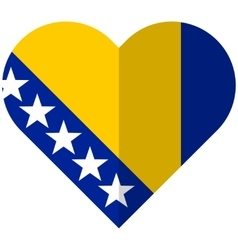 Bosnia and herzegovina flat heart flag vector
