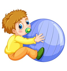 Boy and ball vector image vector image