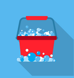 Bucket flat icon for web and mobile vector