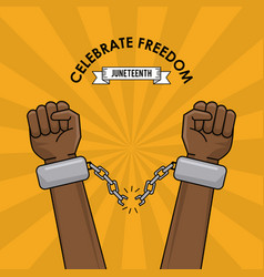 Celebrate freedom race anti racism spirit image vector