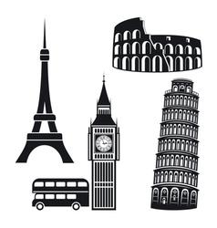 Cities symbols vector image vector image
