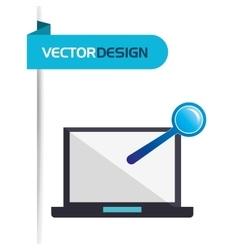 Computer hardware design vector