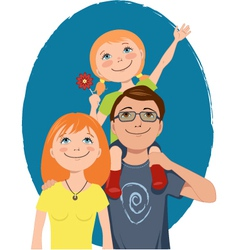 Cute cartoon family vector