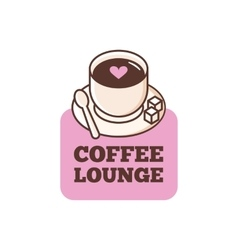 Cute coffee bar logo coffee shop logo vector