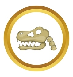 Dinosaur skull icon vector