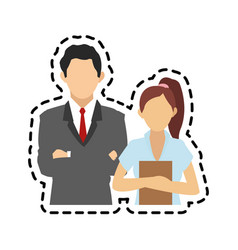 faceless business people icon image vector image
