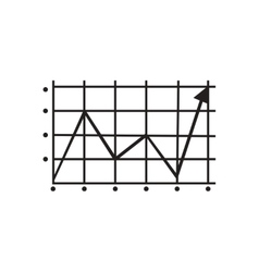 Flat icon in black and white growing schedule vector