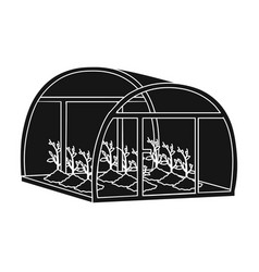 Greenhouse single icon in black style greenhouse vector