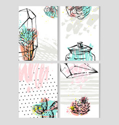 Hand drawn abstract save the date greeting vector