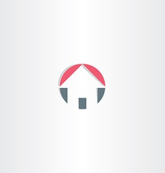 House circle icon element vector