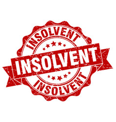 insolvent stamp sign seal vector image vector image