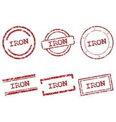 Iron stamps vector image vector image