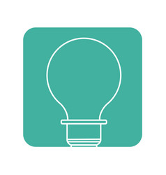 Label energy light bulb icon vector
