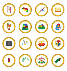 Playground cartoon icon circle vector