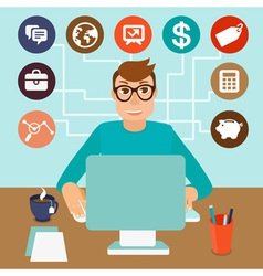 self employed vector image vector image