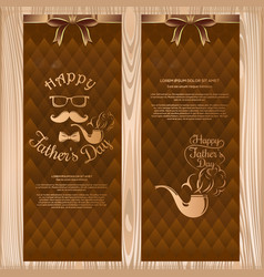 set banners for fathers day greeting cards vector image