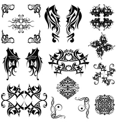 Set Tribal elements vector image vector image