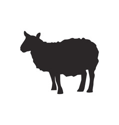 Sheep silhouette vector image