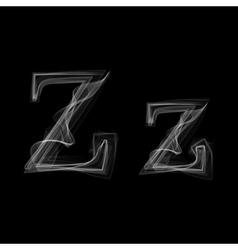 Smoke font Letter Z vector image