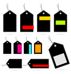 tag blank design set collection color vector image vector image